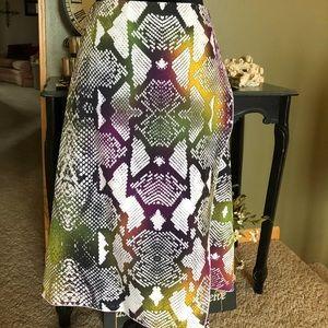 Worthington Multi Color Snakeskin Skirt Size 18
